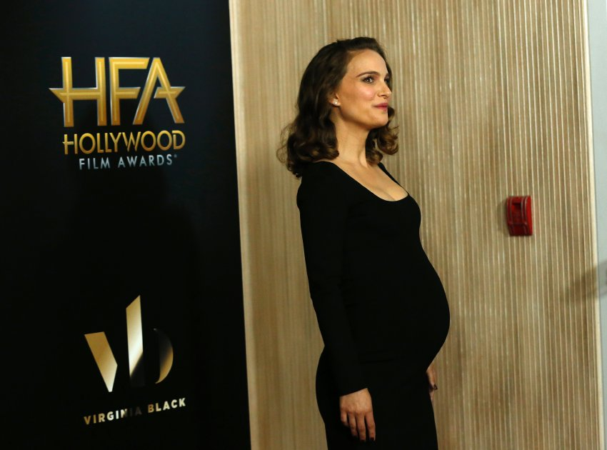 Actress Natalie Portman arrives at the Hollywood Film Awards in Beverly Hills